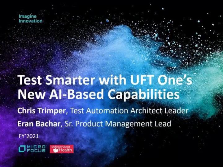 Testuj lepiej dzięki nowym możliwościom UFT One opartym na sztucznej inteligencji